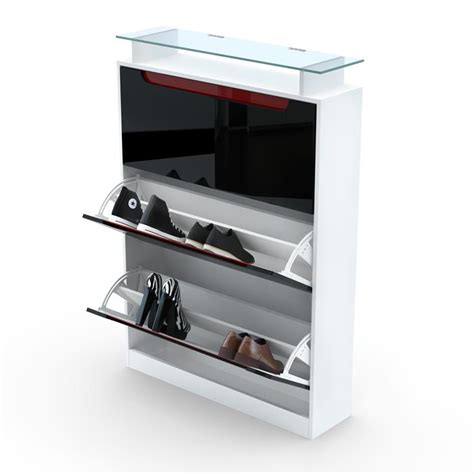 white high gloss shoe storage shoe storage rack cabinet organizer space in white high