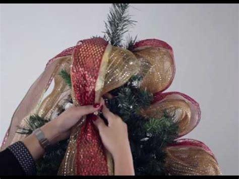 como decorar un arbol de navidad con cinta ancha como decorar el 225 rbol de navidad cintas youtube
