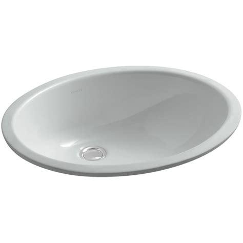 Kohler Caxton Sinks kohler caxton vitreous china undermount bathroom sink with overflow drain in grey with
