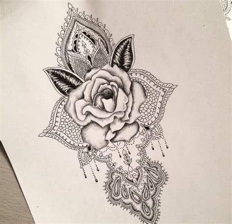 rose bud tattoo designs pin mandala flower coloring page on