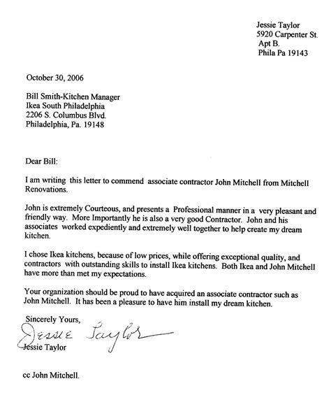 Renovation Cover Letter Mitchell Renovations Testimonials