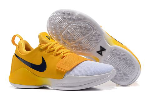 new style nike pg1 paul george ep indiana pacers yellow