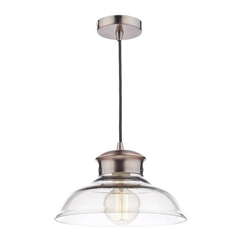 Pendant Lighting Uk Dar Lighting Siren Copper And Glass Ceiling Pendant Light Sir0164