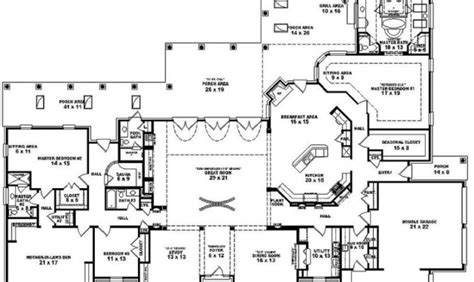 mediterranean one story house plans 25 best single story 5 bedroom house plans building plans online 22535