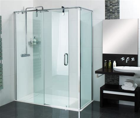 Shower Tray And Door Sculptures Sliding Door Shower Enclosure Installed To Our Stylish Infinity Shower Tray Giving