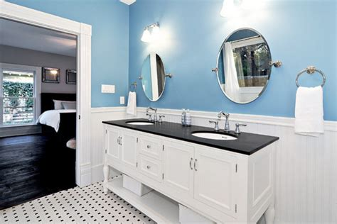 black white blue bathroom blue and white master bath