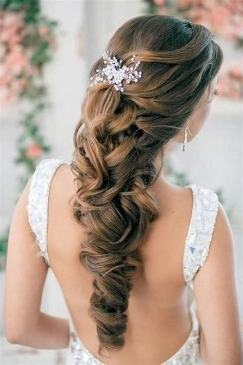 curly hair brush over styles half up half down curly wedding hairstyles with silver