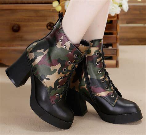 high heel boots zipper combat boots boots
