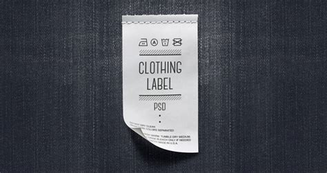 Psd Clothing Label Mockup Miscellaneous Pixeden Clothing Label Design Templates