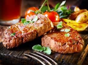 wallpaper beef steak food cooking grill vegetables meal meat tomato leaves food 408