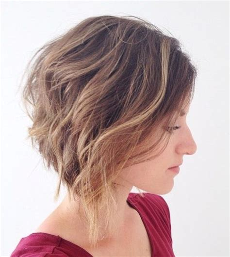 angled bob for curly hair shoulder length angled bob haircut long hairstyles