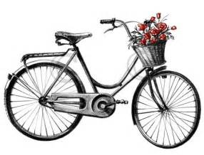 Bicycle With Flower Basket Clip Art Sketch Coloring Page sketch template