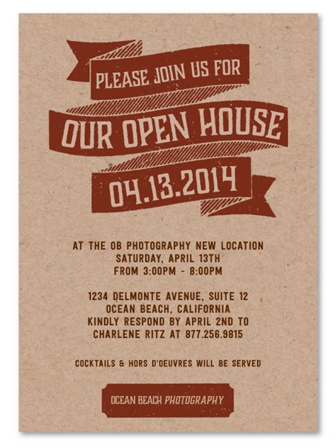 open house invitations marketing open