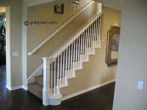 painted stair handrail all white home improvement