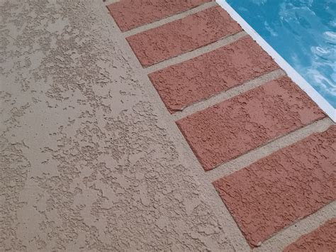 deck coating  brick pattern sider crete