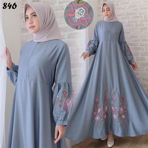 Bilbina Maxi Gamis Brukat Dress Bordir Pesta maxi dress baloteli bordir c846 grosir gamis cantik