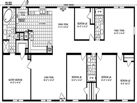 5 bedroom double wide trailer double wide floor plans 5 bedroom marvelous 4 bedroom