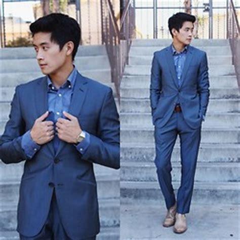 K Style Navy Shirt Sa Ft 7 adrian black lapel charcoal navy suit h m blue