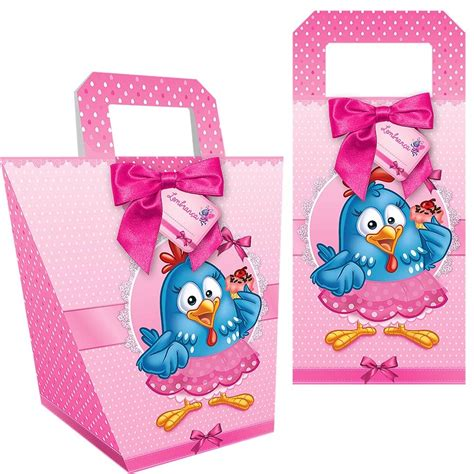 sacolinha surpresa para festa infantil pictures to pin on pinterest fl sacola multiuso galinha pintadinha rosa 08 unidades