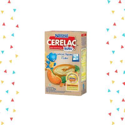 Nestle Cerelac Gd Madu 120gr nestle cerelac bubur wortel bayam dan labu 120gr