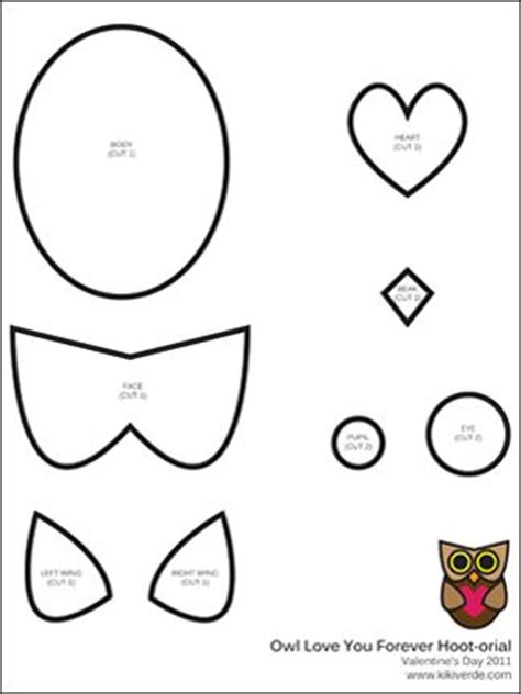 owl valentines day card template 35 best images about owl crafts on