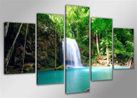 aliexpress com buy 4 panel waterfall and green lake aliexpress com buy s741 beautiful green waterfall 5