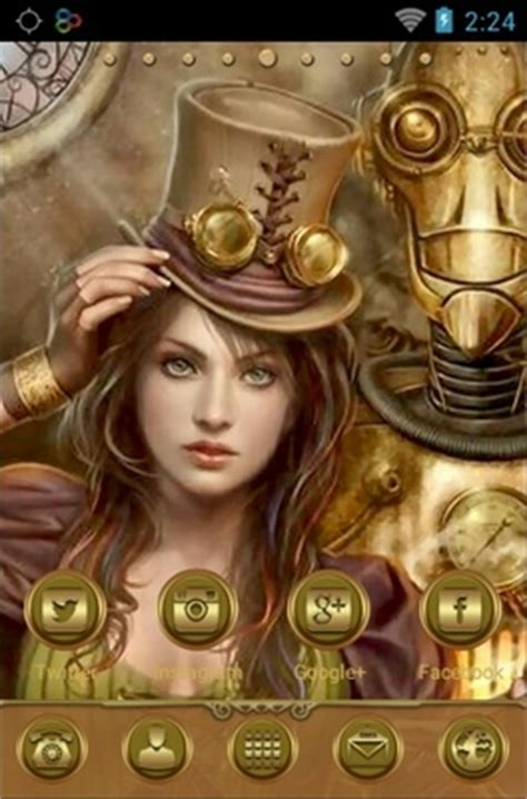 steampunk girl android theme for go launcher