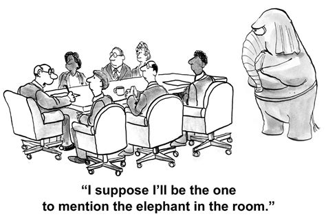 White Elephant In The Room by Bigstock Elephant In The Room 81765164