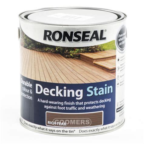 ronseal decking stain rich teak ltr delivered