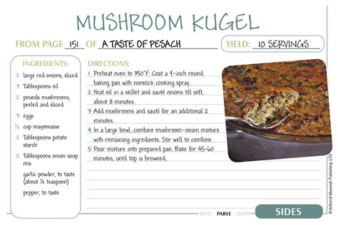 free passover recipe cards download the official artscroll blog