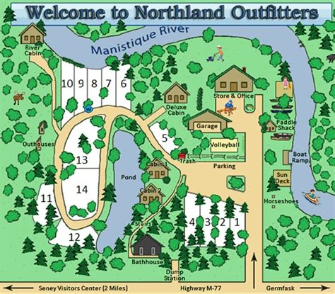 layout yosemite northland outfitters up cgrounds near curtis mi