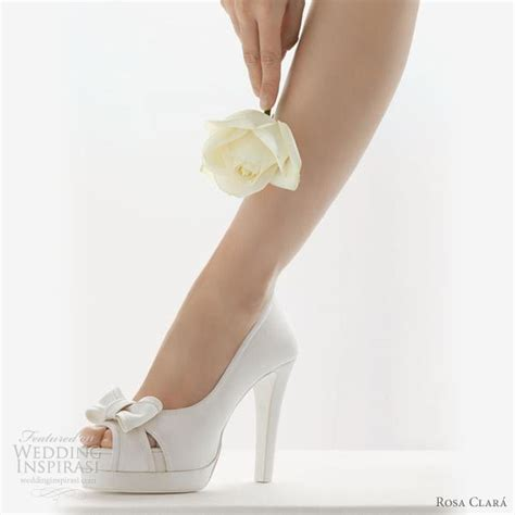 White Heels For Wedding by To Be Ideas Wedding Shoes Rosa Clar 225 2011