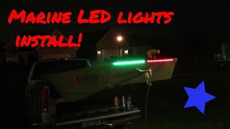 led lights on jon boat how to install led navigation lights on a jon boat jon