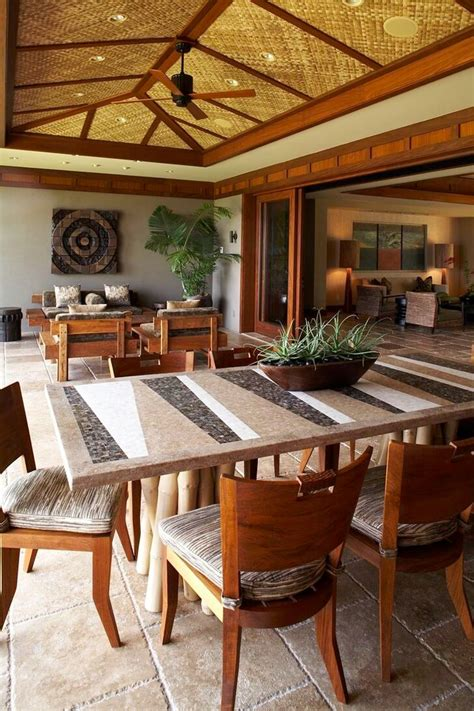 tropical dining room outdoor table legs dining room tropical with custom home