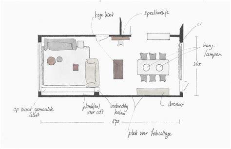 indeling woonkamer plattegrond woonkamer inrichten plattegrond kleurgebruik en lichtplan