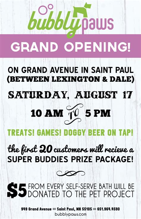 saint paul dog wash grand opening event bubbly paws