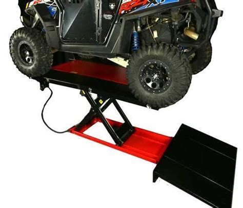 atv air lift table pro 2500u 48 quot high rise air atv utv lift table