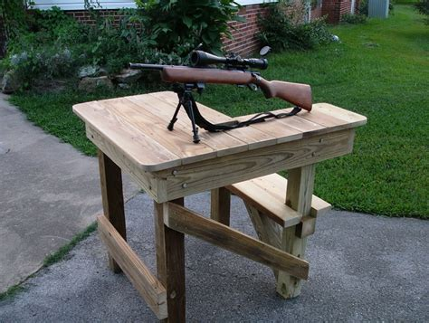 shooters bench homemade portable shooting bench plans home design ideas
