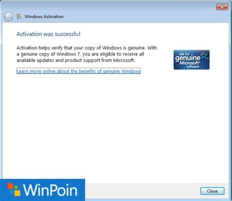tutorial instal ulang windows 7 lengkap tutorial lengkap cara aktivasi windows 7 permanen winpoin
