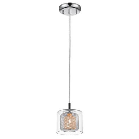 Stainless Steel Kitchen Pendant Light Dsi 1 Light Chrome Mirrored Stainless Steel Mini Pendant With Mesh Inner Shades 16888