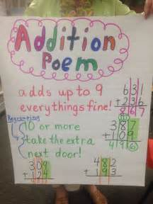 addition poem for regrouping 1st grade education