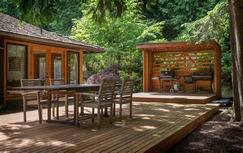 forest backyard backyard forest modern landscape seattle by imprint architecture and design llc