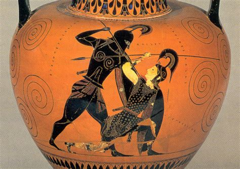 Achilles And Penthesilea Vase by Why Can Pikemen Run In Phalanx And Why Cant Hoplites Run
