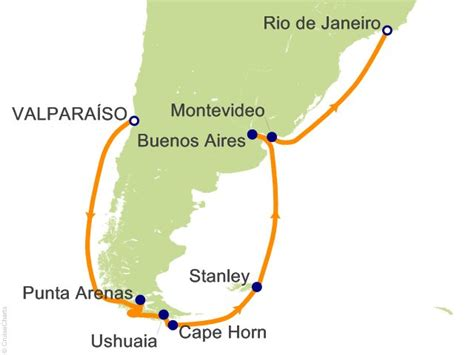 cape horn map 14 cape horn route to cruise on princess from santiago valparaiso sailing