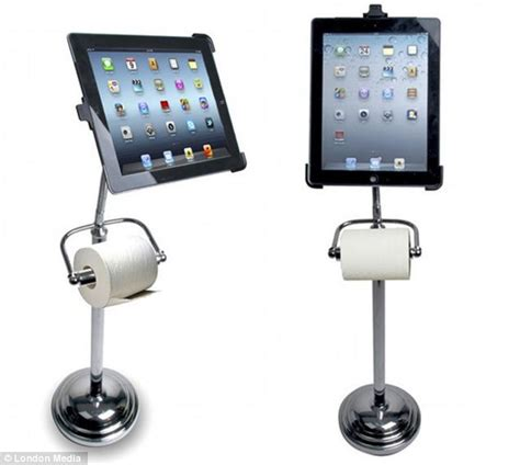 ipad holder bathroom just remember to wash your hands the ipad stand that doubles as a loo roll holder
