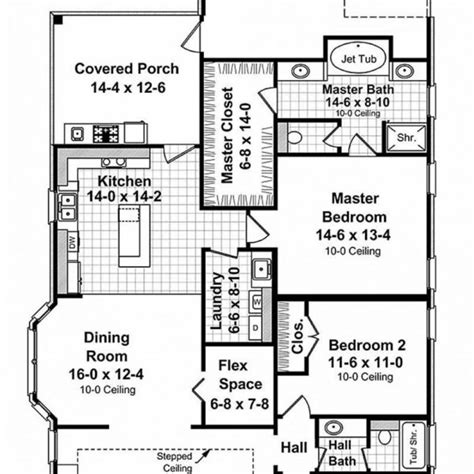 floorplans singlestoryopen traditional style