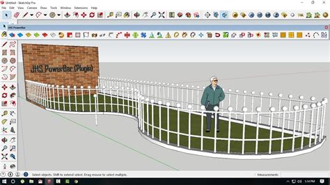 sketchup tutorial array tutorial sketchup how to array object follow the line