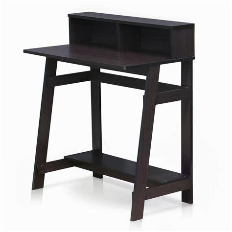 A Frame Computer Desk Furinno Simplistic Walnut Computer Desk With A Frame 14054dwn The Home Depot