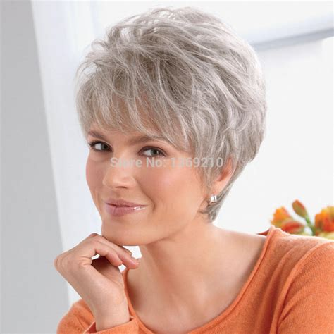 quality synthetic hair white short venation hairstyle