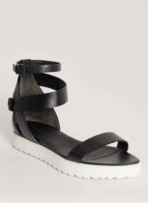 Jadde Sandals Aldo wang jade leather flat sandals in black lyst
